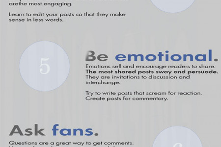 10 Tips T0 Write Engaging Facebook Posts Infographic