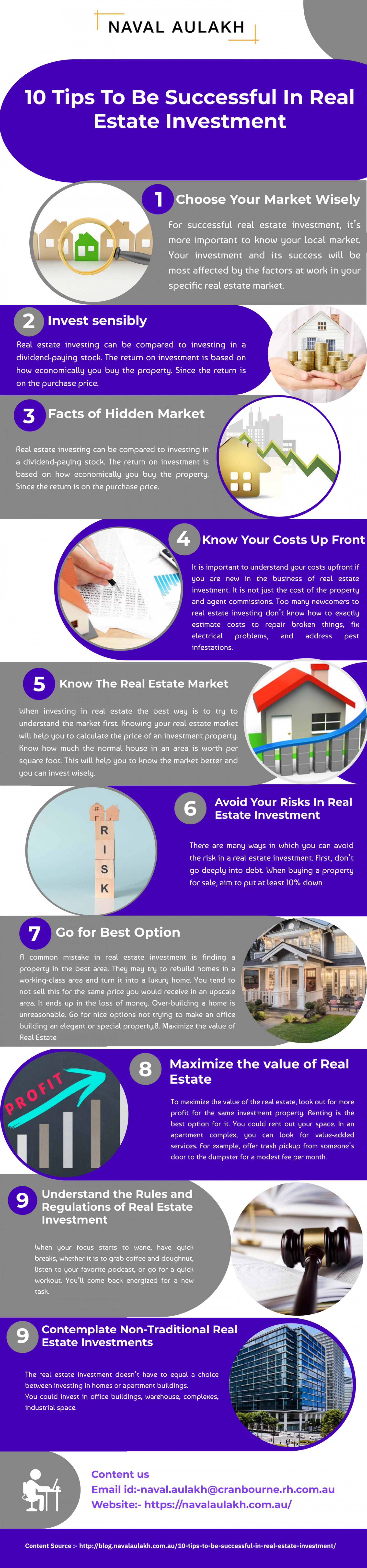 10 Tips To Be Successful In Real Estate Investment Infographic