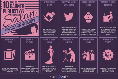 10 Tips to Garner Publicity For Your Salon!  Infographic
