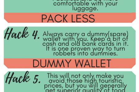 10 Travel Hacks For A Better Trip Infographic