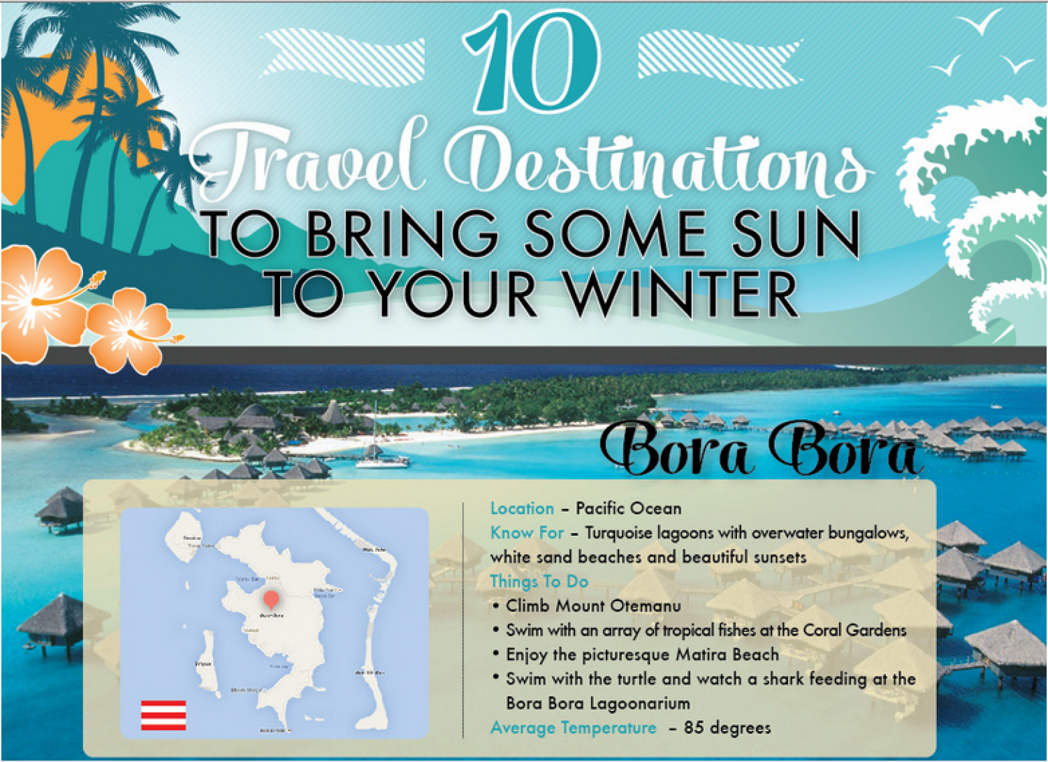 10 Tropical Travel Destinations for Your Next Vacation Infographic