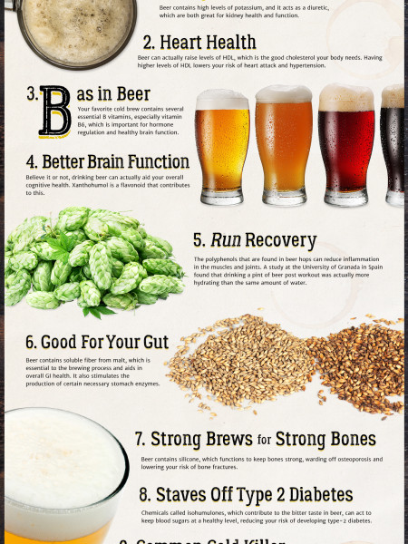 10 Ways Beer Makes You Healthier  Infographic