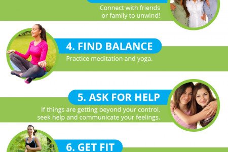 10 Ways to Beat Caregiver Stress Infographic