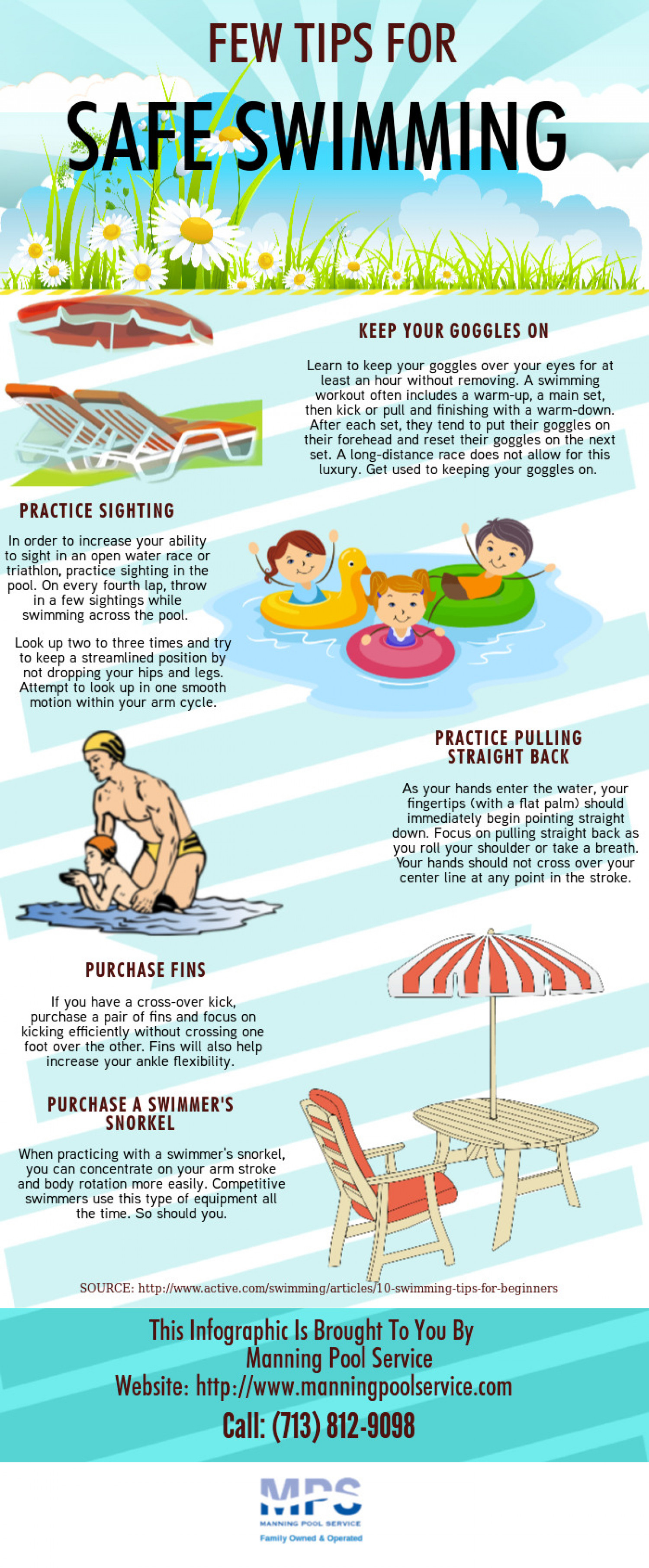 Few Tips For Safe Swimming Infographic