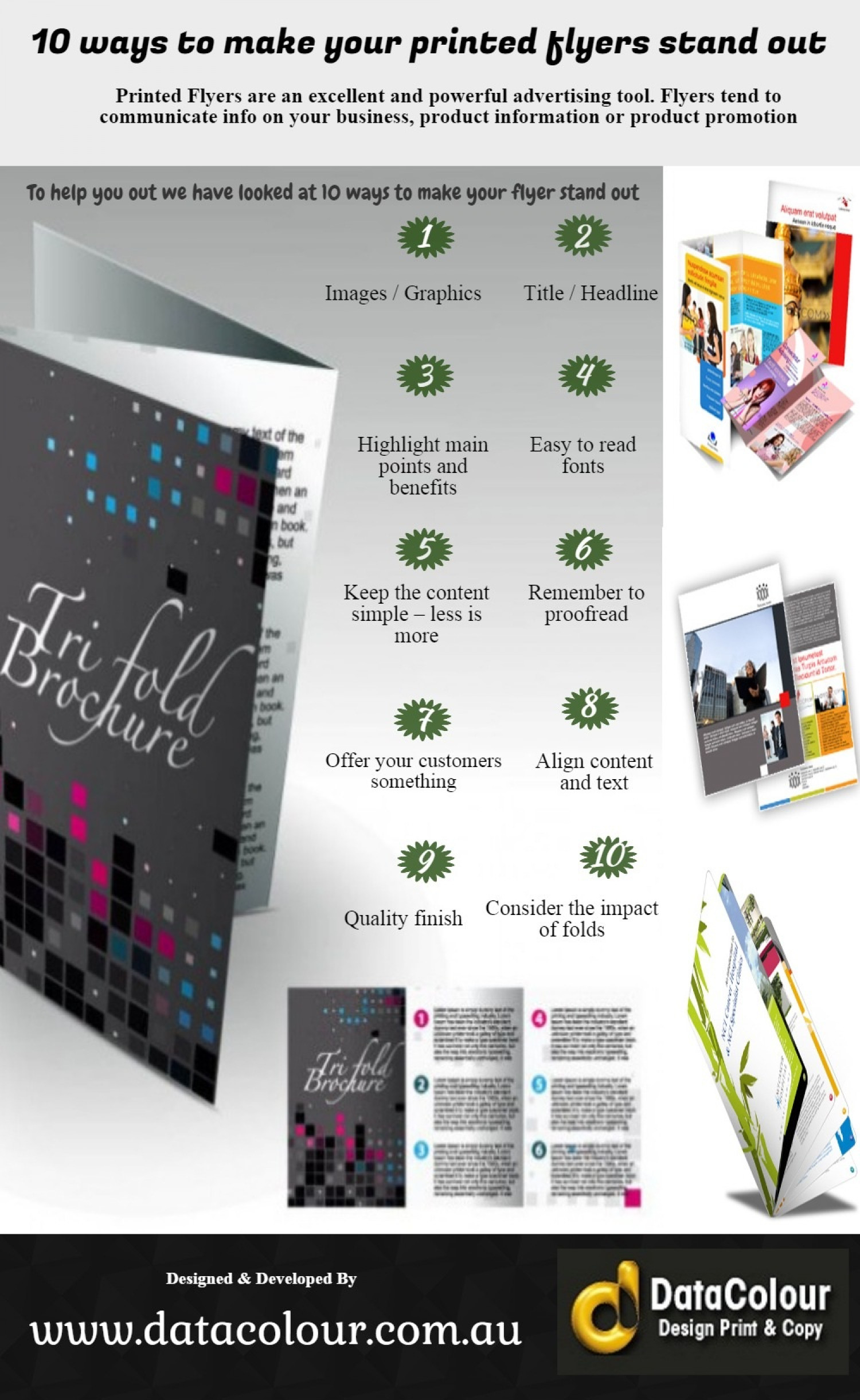 10 Ways to make your printed flyer stand out