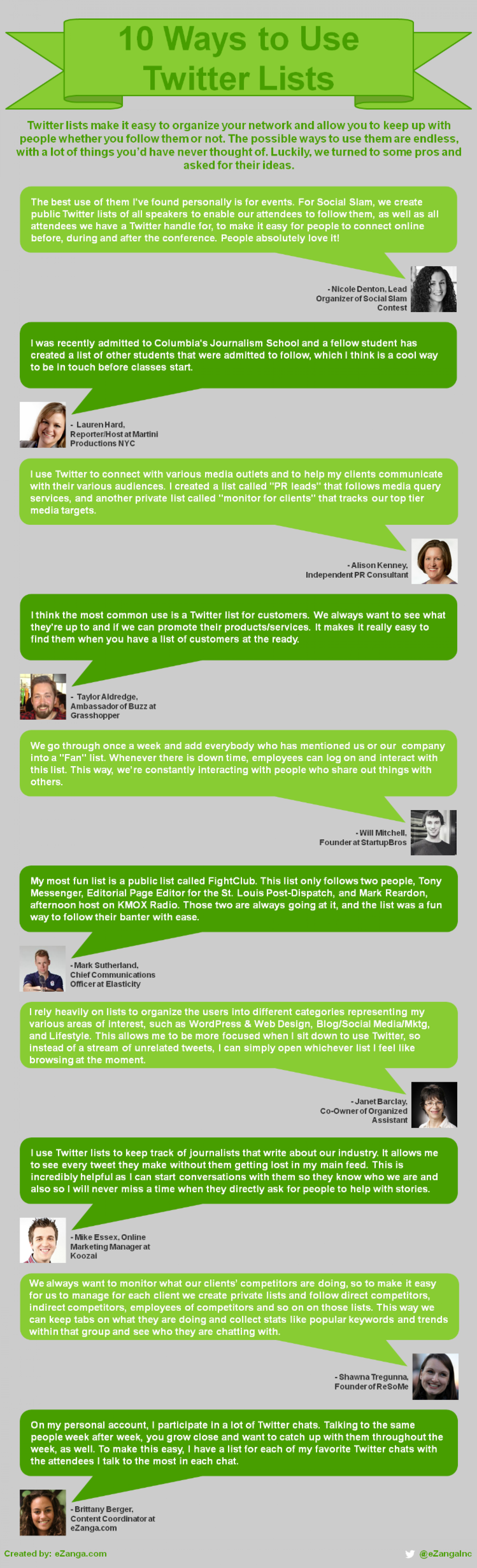 10 Ways to Use Twitter Lists Infographic