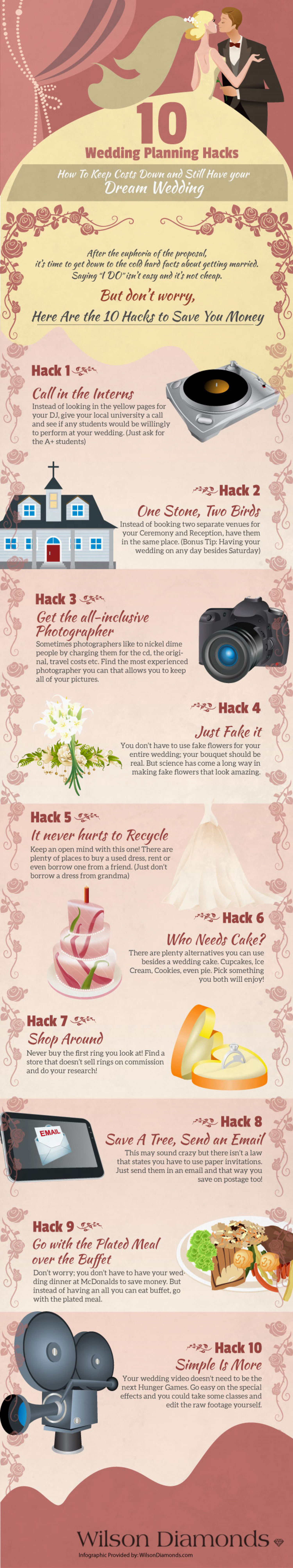 10 Wedding Planning Hacks Infographic