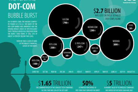 10 Years On: When the bubble burst Infographic