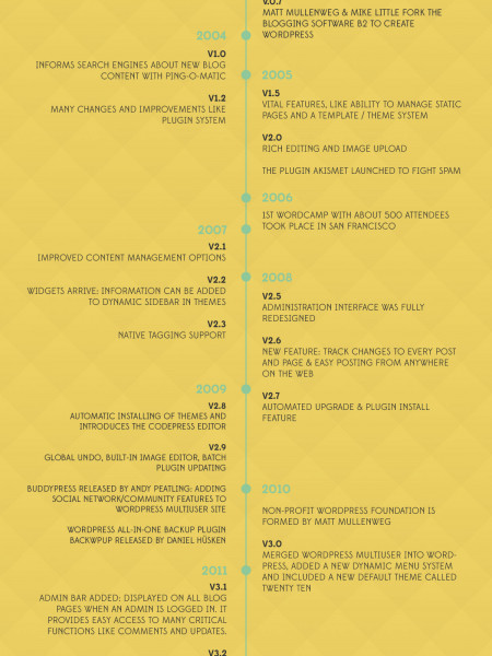 WordPress 10th Anniversary - 10 years WordPress Infographic