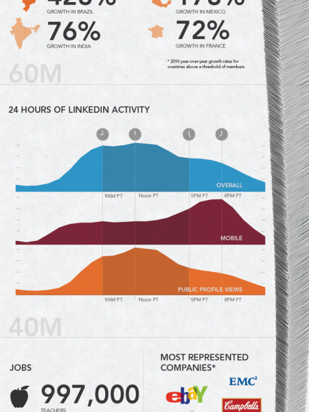 100 Million Professionals Infographic