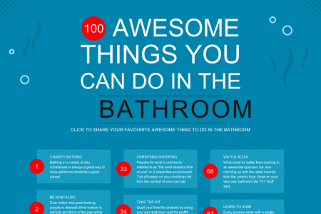 100 Awesome things to do in your bathroom Infographic