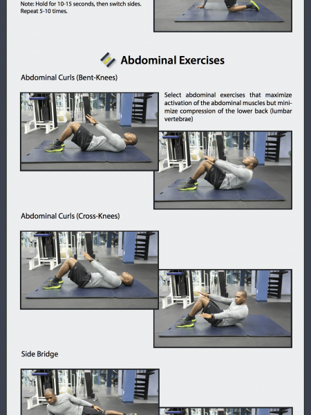 10 Exercises to Help Prevent Lower Back Pain Infographic