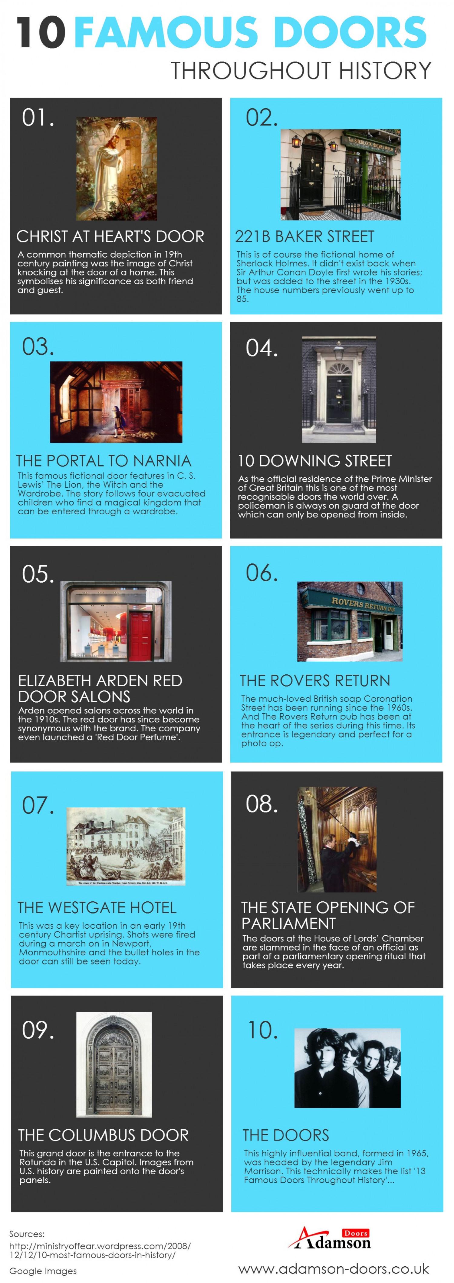 10 Famous Doors throughout History Infographic