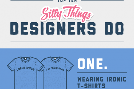 10 Silly Things Designers Do Infographic