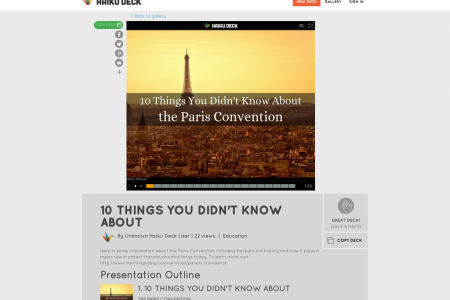 10 Things You Didn't Know About The Paris Convention Infographic