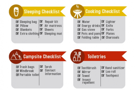 11 Essential Camping Checklist Infographic