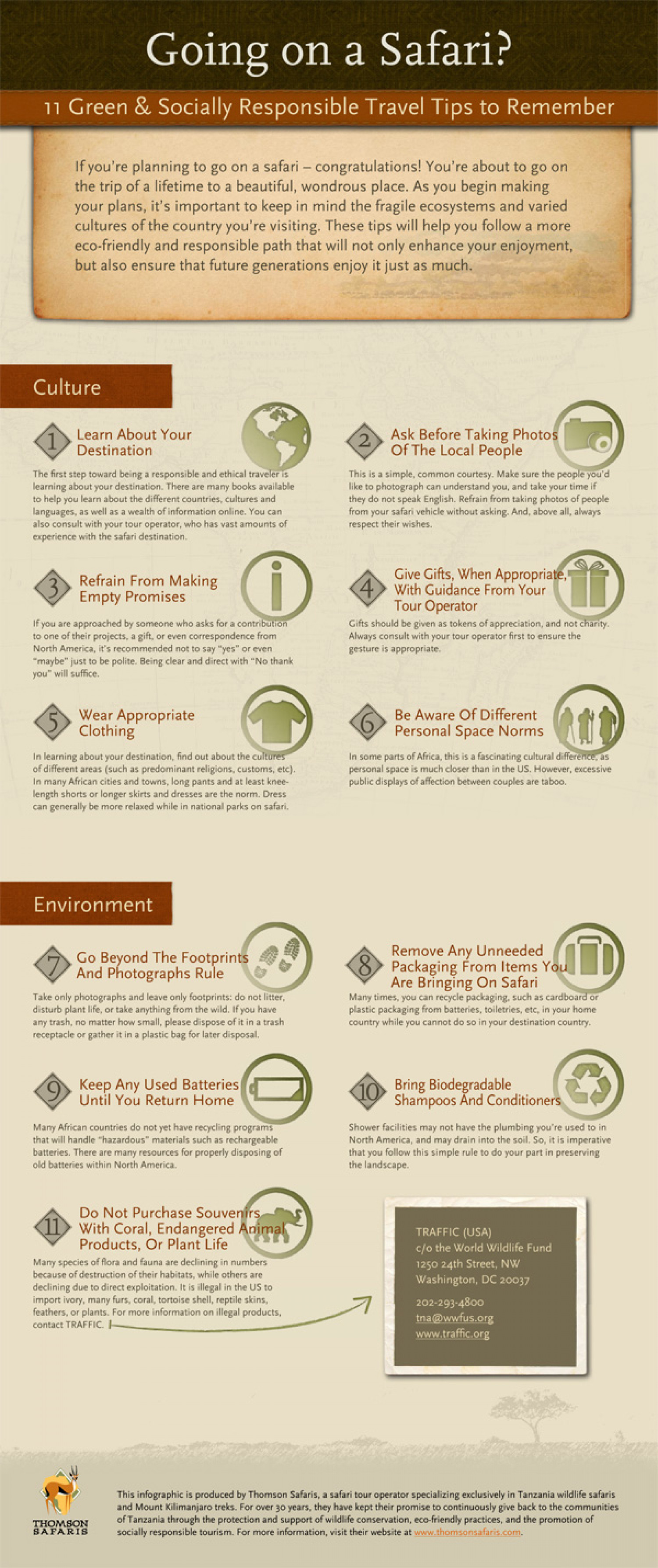 11 Green & Socially Responsible Travel Tips Infographic