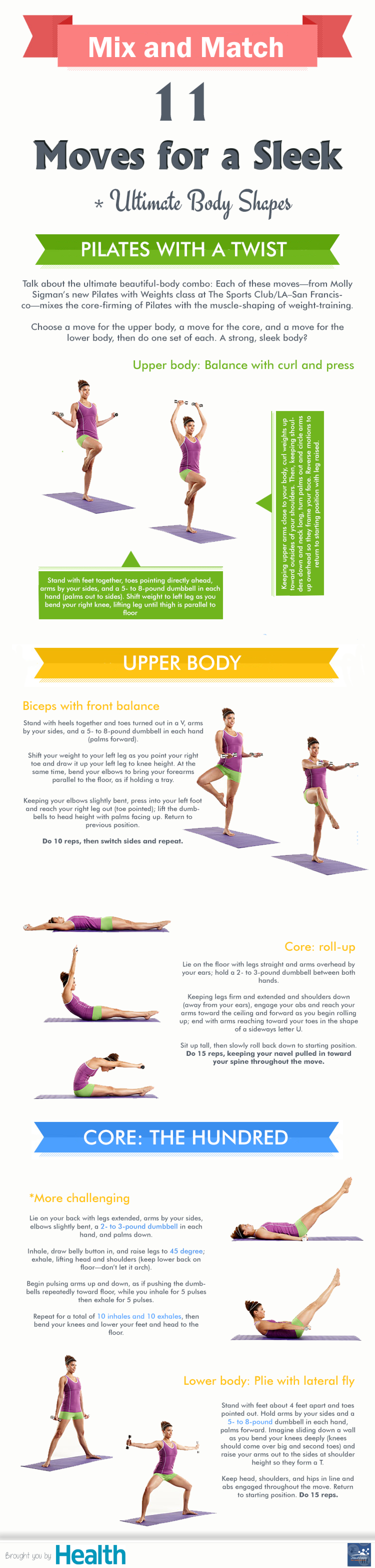 11 Moves for a Sleek Ultimate Body Shapes Infographic