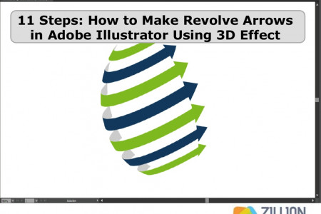 11 Steps: How to Make Revolve Arrows in Adobe Illustrator Using 3D Effect Infographic