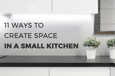 11 Ways to Create Space in a Small Kitchen Infographic