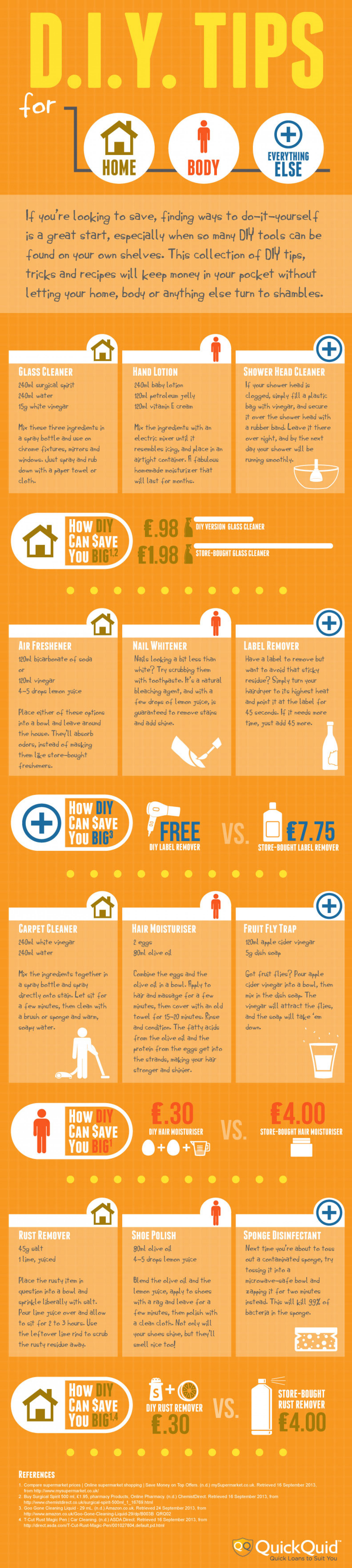 12 DIY Recipes for Home and Body   Infographic