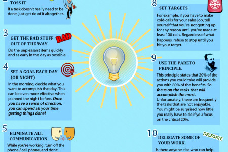 12 Ideas to Increase Productivity Infographic