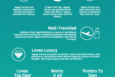 12 Qualities of a Canadian Jaguar Driver Infographic
