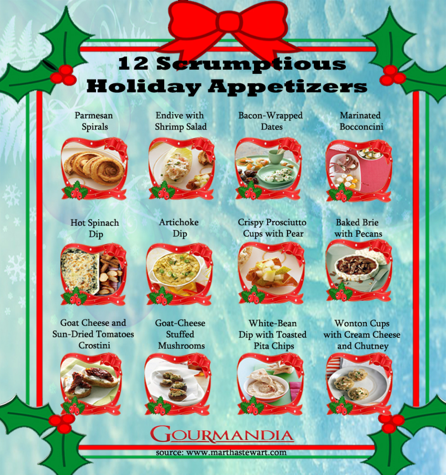 12 Scrumptious Holiday Appetizers   Infographic