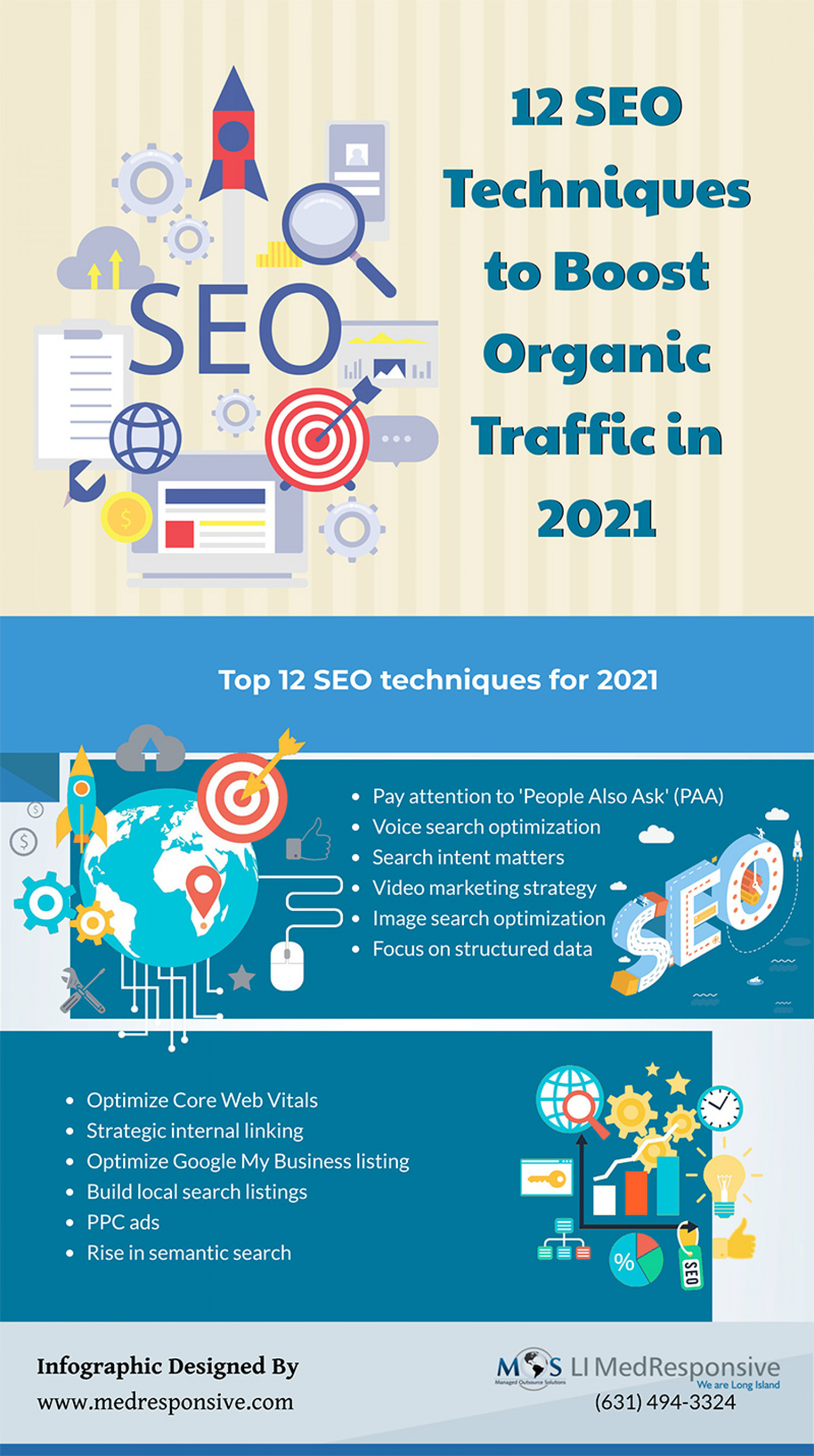 12 SEO Techniques to Boost Organic Traffic in 2021 [Infographic] Infographic