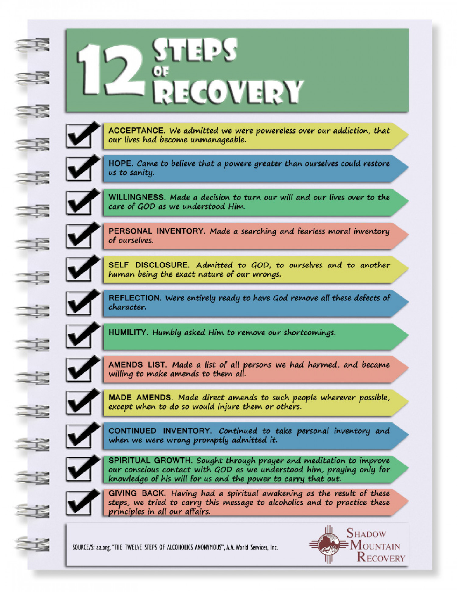12 Steps of Recovery Infographic