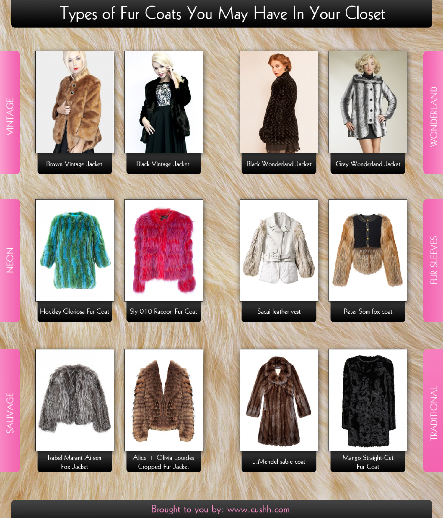 12 Types of Fur Coats You May Have In Your Closet | Visual.ly