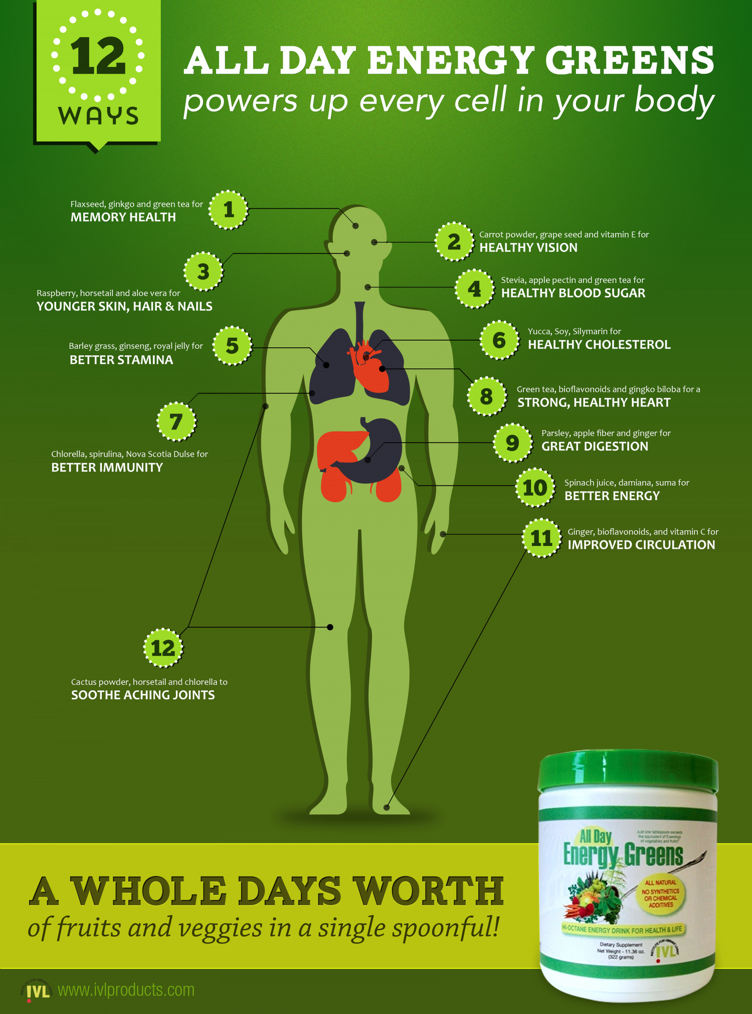 12 Ways to Power up Every Cell in Your Body Infographic
