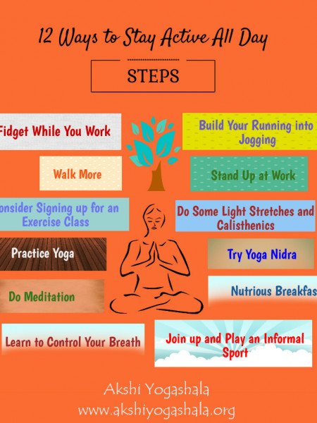 12 Ways to Stay Active All Day Infographic