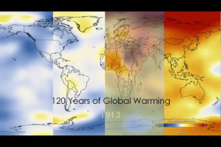 120 Years of Global Warming Infographic