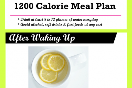 1200 Calorie Meal Plan Sample Menu for Weight Loss Infographic