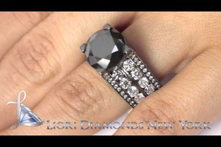 12.63 Carat Certified Natural Black Diamond Engagement Ring 14k Black Gold Infographic
