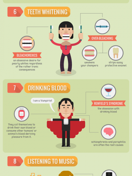 12 Unusual Addictions You Won't Believe are Real Infographic