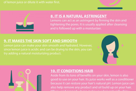 13 Wonderful Reasons Why You Should Be Using Lemon in Your Beauty Routine Infographic