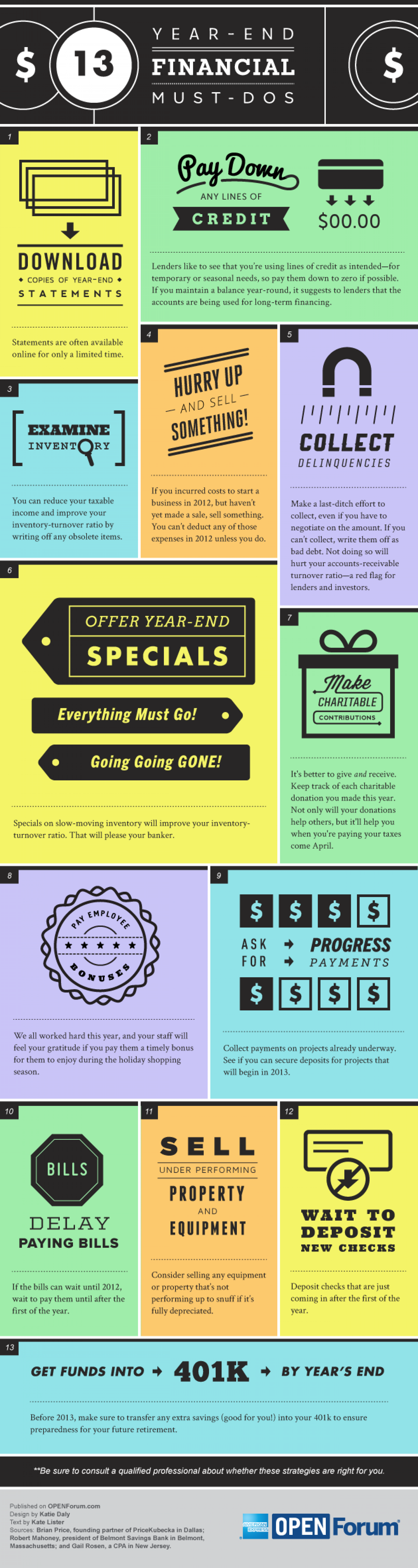 13 Year-End Financial Must-Dos Infographic