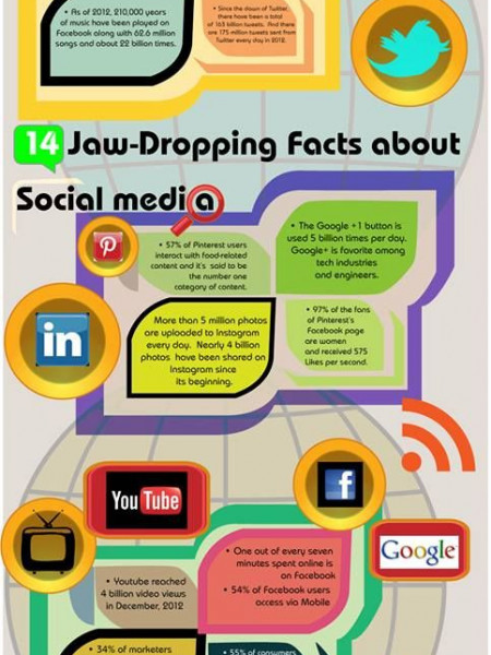 14 Jaw-Dropping Facts About Social Media Infographic