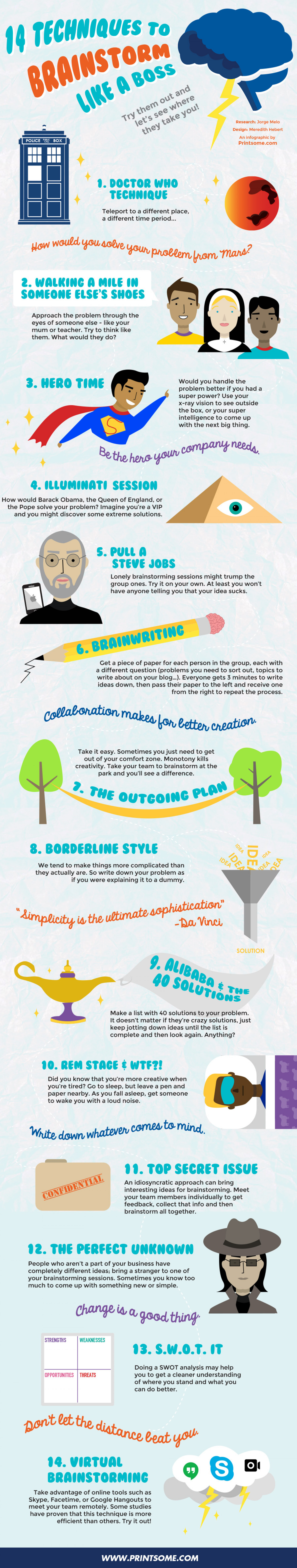 14 Techniques to Brainstorm Like a God & Infographic! Infographic