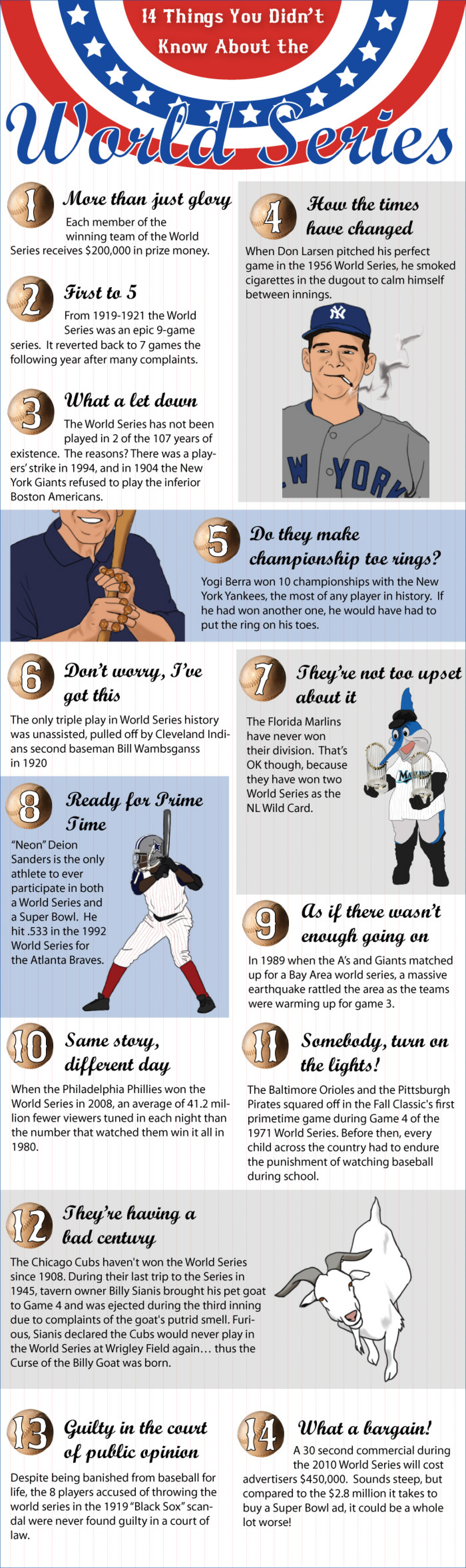 14 Things you didn't know about the world series Infographic