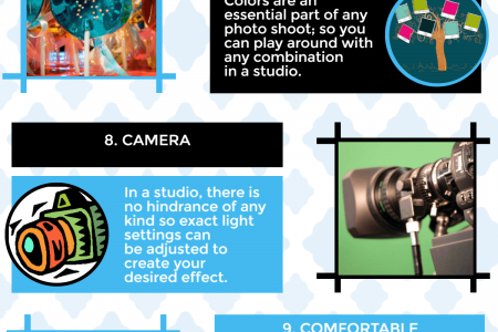 15 Advantages of Shooting Video in a Studio Infographic