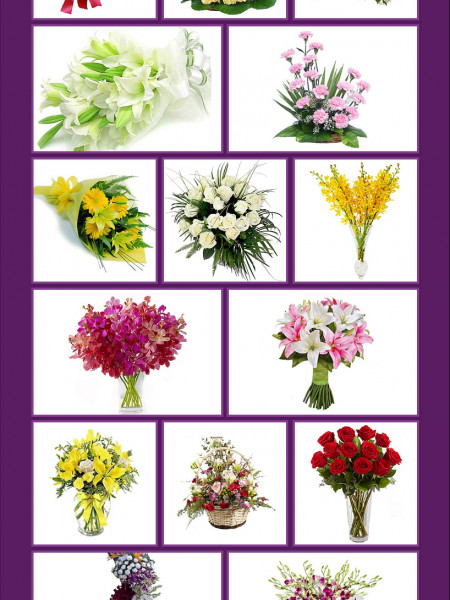 15 Beautiful Flower Bouquets For Birthday Infographic