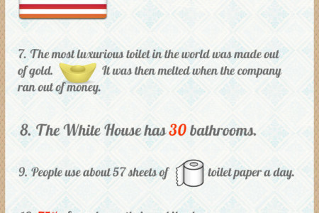 15 Fascinating Toilet Facts Infographic
