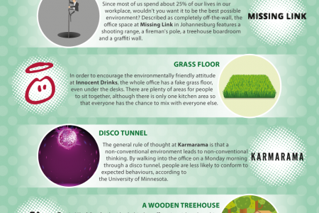 15 of the Most Unusual Office Gimmicks Infographic
