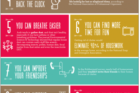 15 Reasons to Clear Out Clutter at Home Infographic