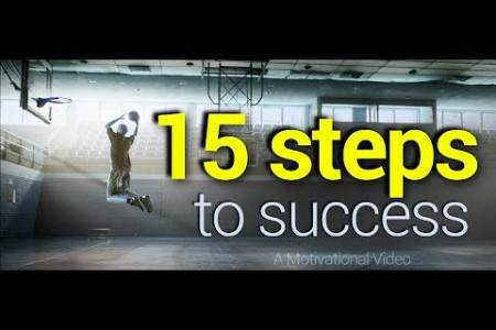 15 steps to success - Quotes of life. Infographic