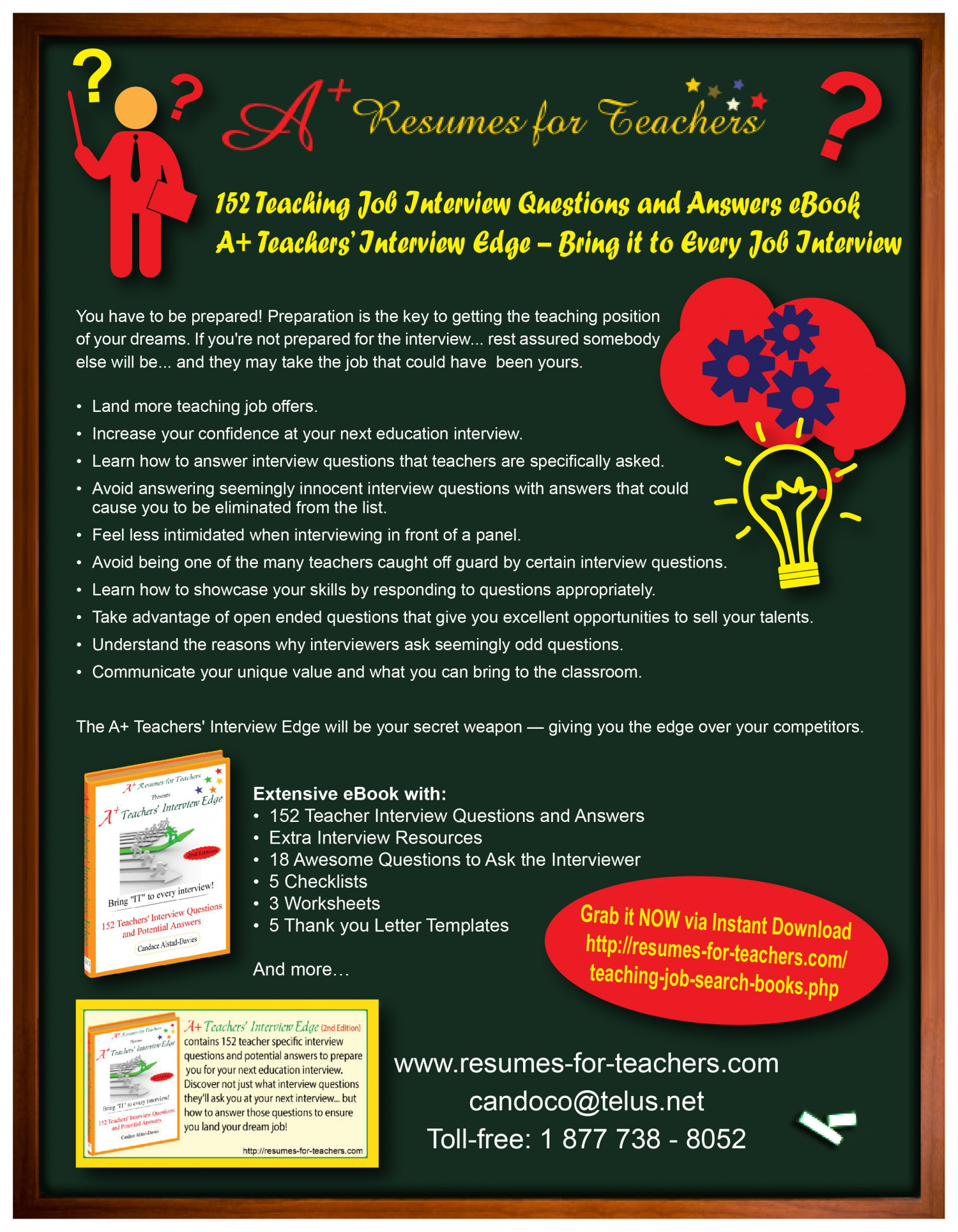 152 teacher job interview questions and answers a teachers 152 teacher job interview questions and answers a teachers interview edge infographic