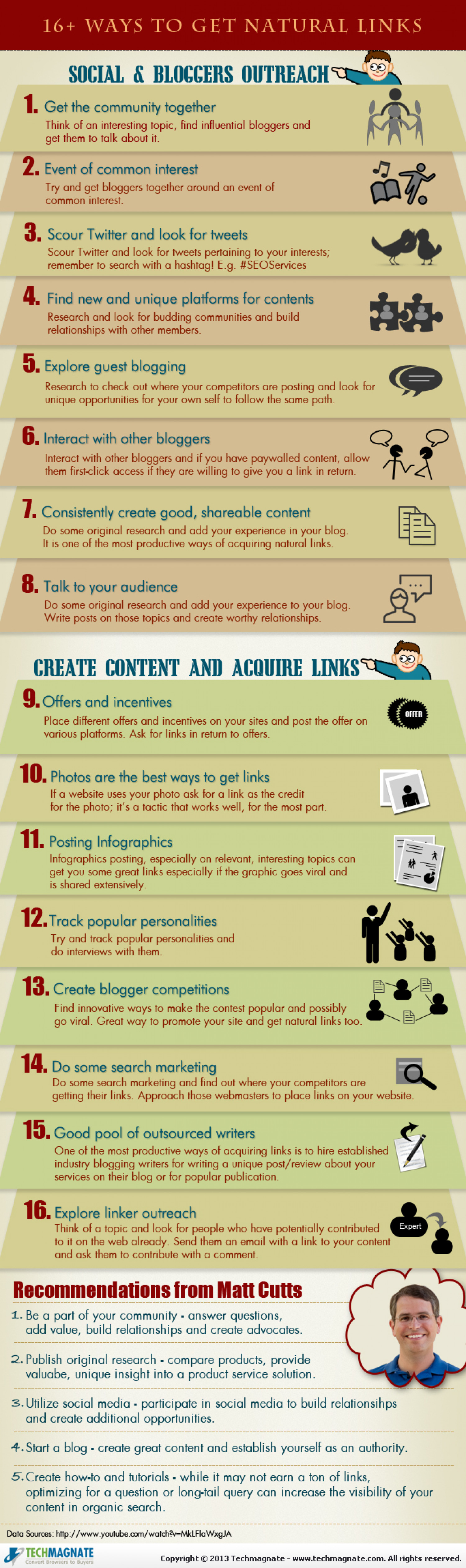 16+ Ways to Get Natural Links Infographic